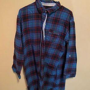 Tommy Hilfiger women's long sleeve flannel medium